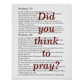 Did you think to pray? poster