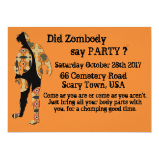 Did Zombody Say Party Card