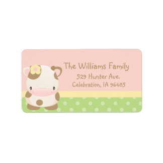 Diddles Farm Moo-Cow Address Label