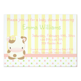 Diddles Farm Moo-Cow Baby Shower Invitation 4