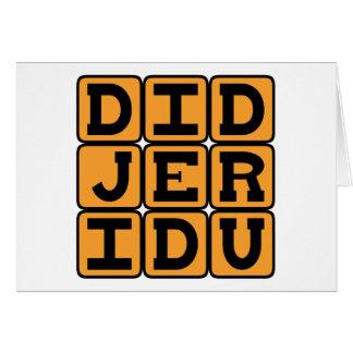 Didjeridu, Musical Instrument Card