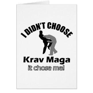 Didn't choose krav maga cards