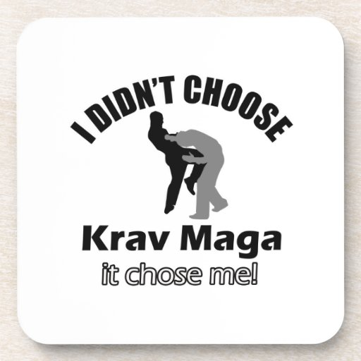 Didn't choose krav maga drink coasters