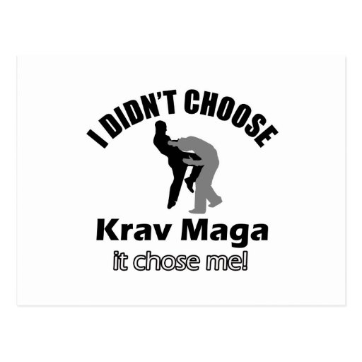 Didn't choose krav maga postcard