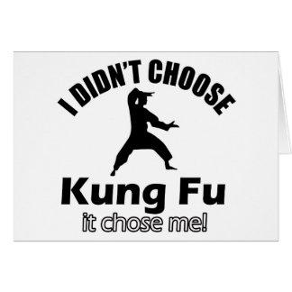 Didn't choose KUNG FU Card