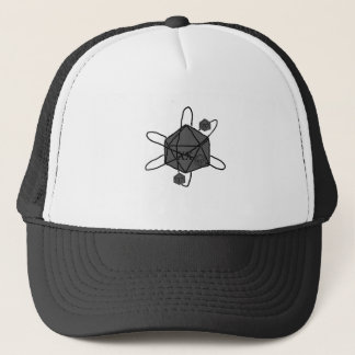 Die-Atom(Outline All Black)(Inside All Gray) Trucker Hat