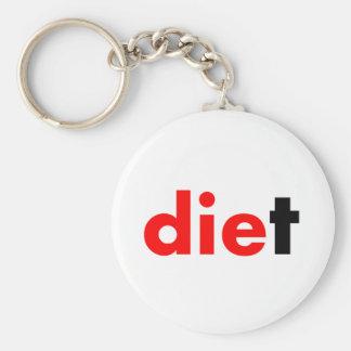 Die Diet Basic Round Button Key Ring