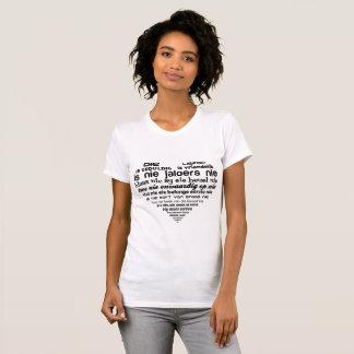 Die liefde 1 Korinthiers 13:4-8 T-Shirt
