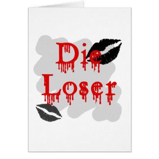 die loser greeting card