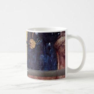 Die Musik By Klimt Gustav Basic White Mug