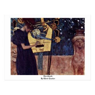Die Musik By Klimt Gustav Postcard