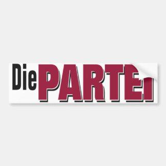 Die Partei Logo Bumper Sticker