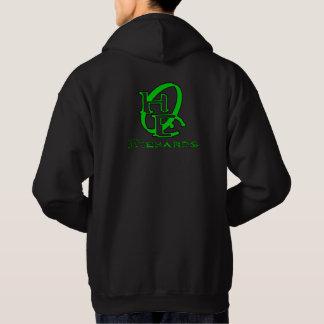 Diehards Gamer Graphic Green on Back Hoodie