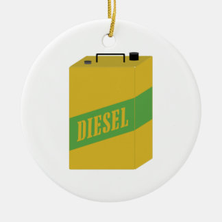 Diesel Can Ceramic Ornament