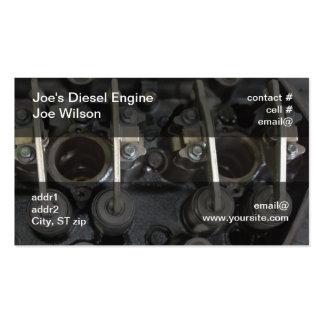 Diesel engine valves pack of standard business cards