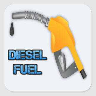 Diesel Fuel Square Sticker