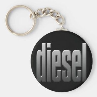 DIESEL. hardcore, strength. tough. muscle. Basic Round Button Key Ring