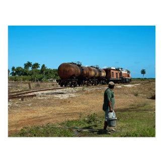 Diesel hauled molasses train postcard