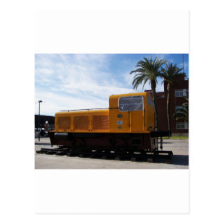 Diesel Locomotive Almeria. Postcard