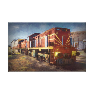Diesel Locomotive Canvas Print