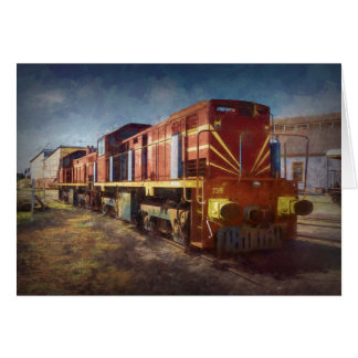 Diesel Locomotive Card