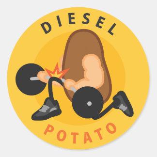 Diesel Potato Sticker