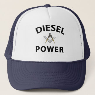 Diesel Powered Trucking Masons Trucker Hat