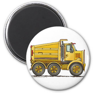 Diesel Tandem Dump Truck Construction Magnets