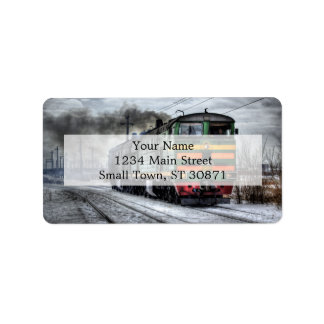 Diesel Train Locomotive Gifts Label