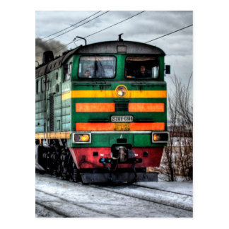 Diesel Train Locomotive Gifts Postcard