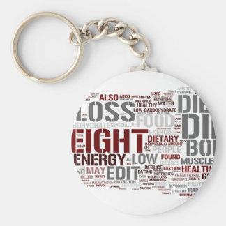 Diet Basic Round Button Key Ring