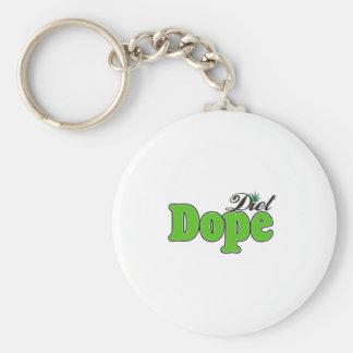 Diet Dope  Basic Round Button Key Ring