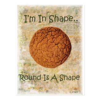 Diet Exercise Funny Cookie Round Shape Postcard