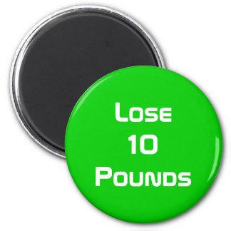 Diet Health And Fitness Goals Round 6 Cm Round Magnet