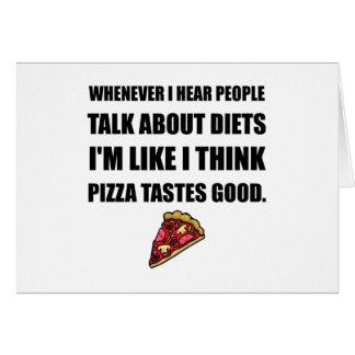 Diet Pizza Tastes Good Card