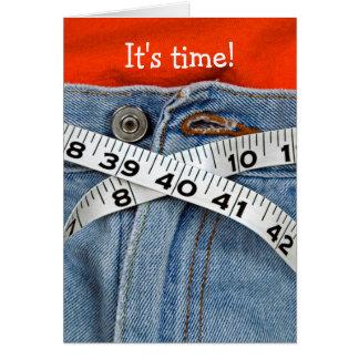 diet-tape measure belt on waistline card