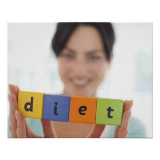 Dieting conceptual image poster
