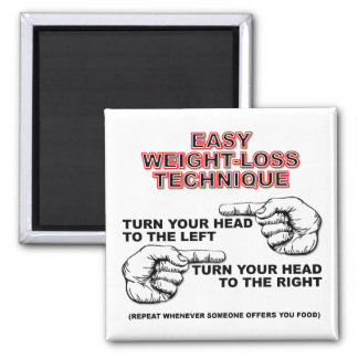 Dieting Weight-Loss Funny Fridge Magnet
