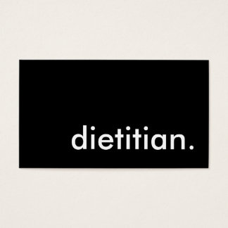 dietitian. business card