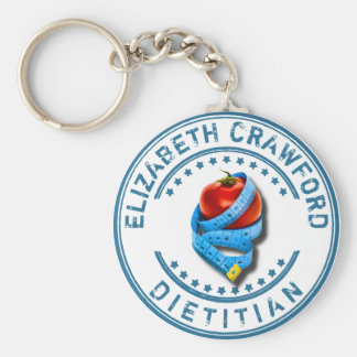 Dietitian Dietologist Doctor With Measuring Tape Key Ring