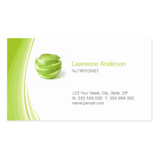Dietitian Nutritionist business card