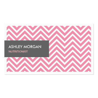 Dietitian Nutritionist - Light Pink Chevron Zigzag Pack Of Standard Business Cards