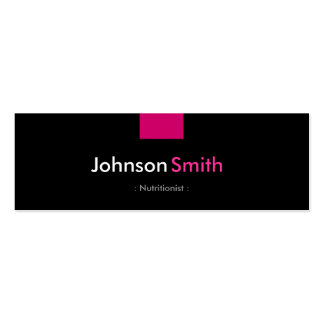 Dietitian Nutritionist - Rose Pink Compact Pack Of Skinny Business Cards
