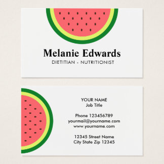 Dietitian nutritionist watermelon business cards