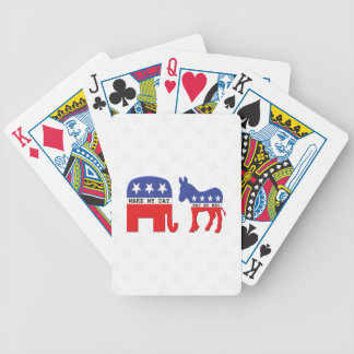Difference Between Republicans and Democrats Funny Poker Deck