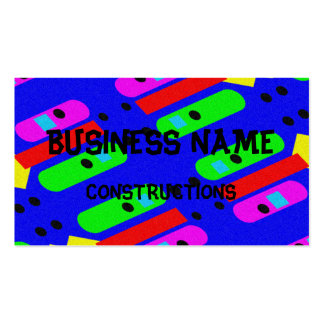Different abstract pattern pack of standard business cards