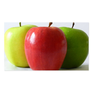Different Apples Pack Of Standard Business Cards