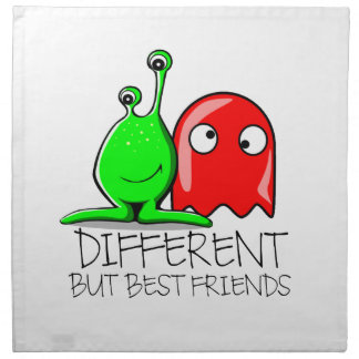 DIFFERENT BUT BEST FRIENDS PRINTED NAPKIN