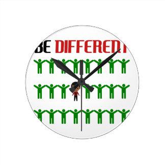 Different design cute round clock