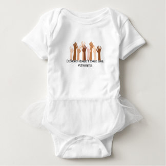 Different Doesn't Mean Less: Diversity Baby Bodysuit